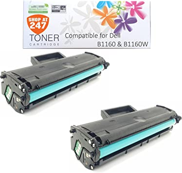 20 PK 1160 Toner Cartridge for Dell B1163W B1165nfw B1160 B1160W HF442 331-7335