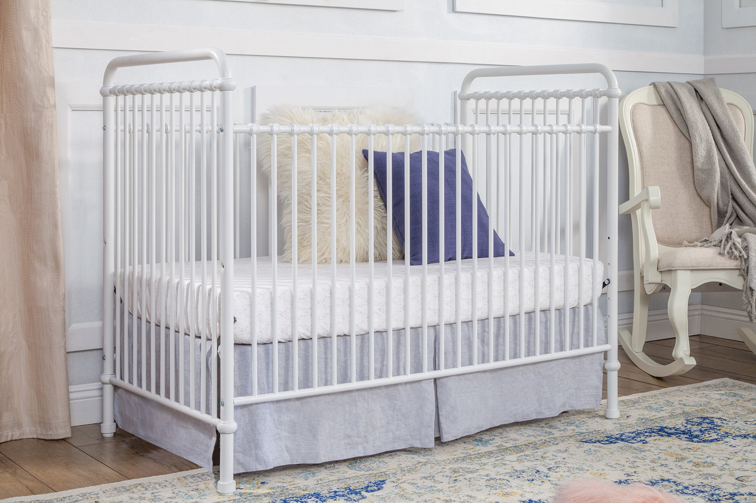 Million Dollar Baby Classic Abigail 3-in-1 Convertible Iron Crib,  Washed White by Million Dollar Baby Classic (Image #2)