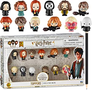 Harry Potter Pencil Toppers, Gifts, Toys, Collectibles – Set of 12 Harry Potter Figures for Writing, Party Decor –Ron Weasley, Hermione Granger,Sybil Trelawney and more by PMI, 2.4 In., Soft PVC (B12)