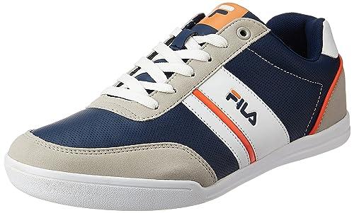 02b8400ee2ac Fila Men s Nofri Grey and Navy Sneakers - 10 UK India (44 EU)  Buy ...