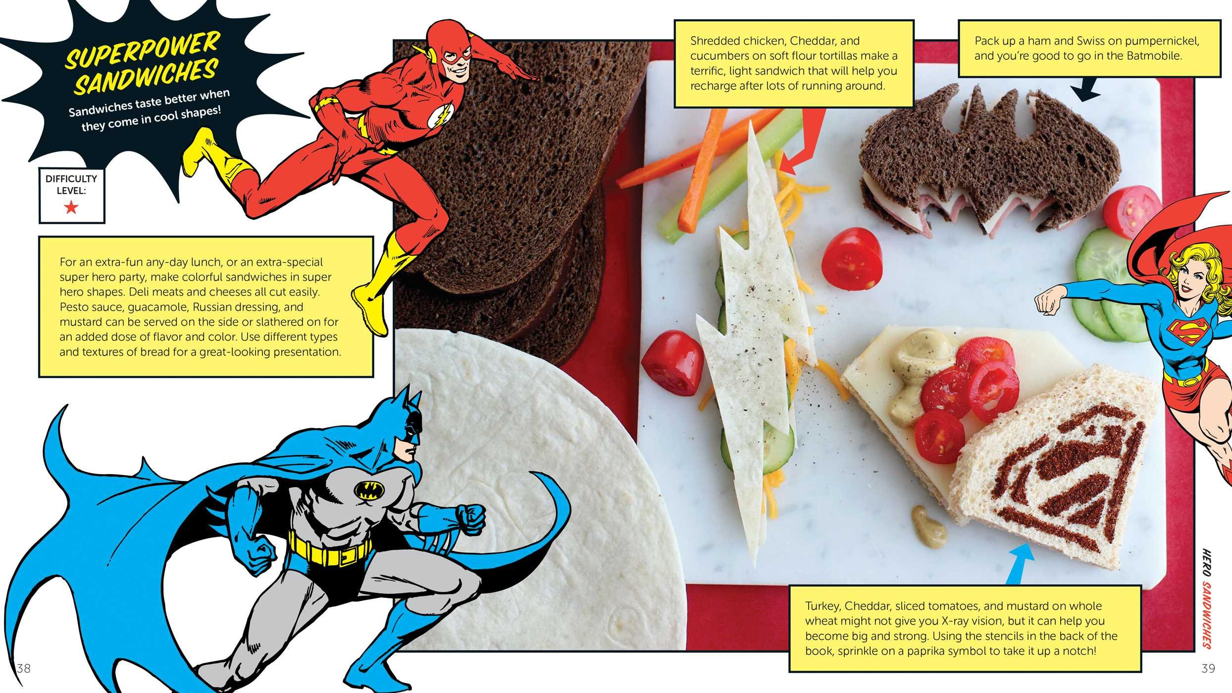 The Official DC Super Hero Cookbook Simple Tasty Recipes For - Superheroes re imagined as if they were sponsored by big brands