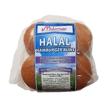 Midamar Halal Hamburger Buns – 12 oz bucles por funda ...