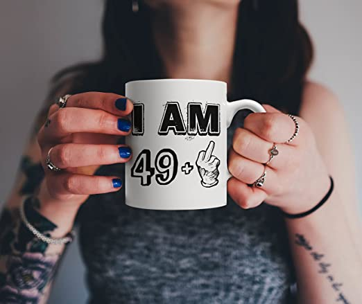 d6275d031 Amazon.com | Funny Fifty Years Old Gift, 49 + Middle Finger - Legends are  Born in 1967 | Vintage 50th Birthday & Anniversary Bday Mug - Life Begins  At 50 ...