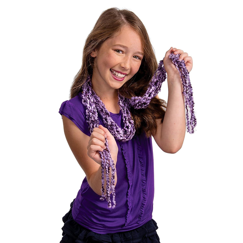 Knitting, Fashion /& Design, Chica, Lana, Violeta, Lana Cool Maker Knits Cool Skinny Scarf Kits de Costura para ni/ños