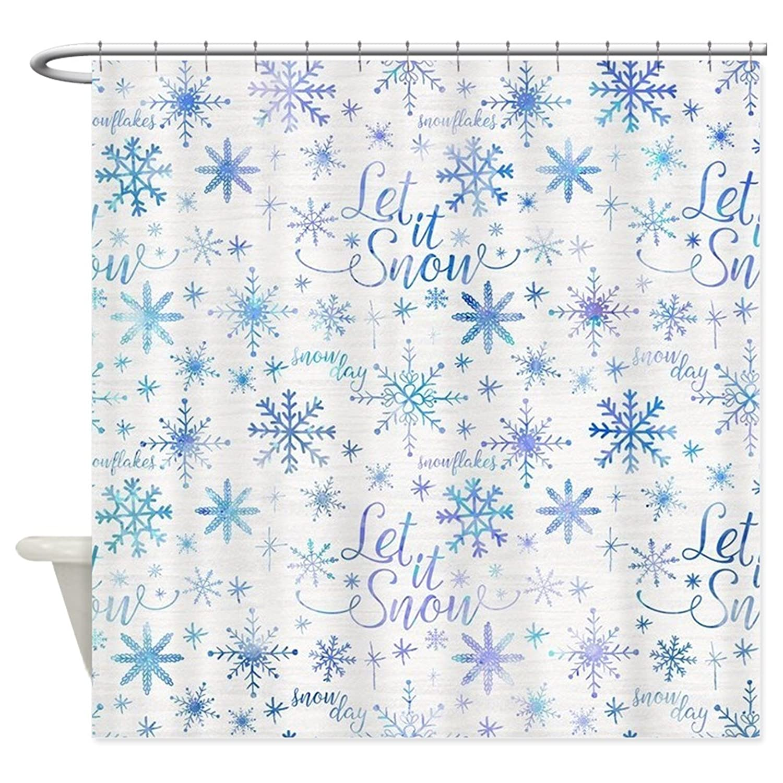 8c180139911 Amazon.com  HANHAOKI Let It Snow Winter Patter Shower Curtain for Bathroom  60