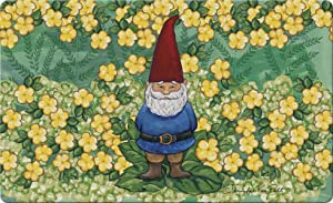 Toland Home Garden Garden Gnome 18 x 30 Inch Decorative Summer Floor Mat Spring Flower Doormat