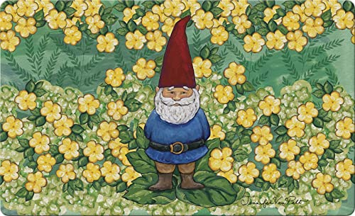 Toland Home Garden Garden Gnome 18 x 30 Inch Decorative Summer Floor Mat Spring Flower Doormat