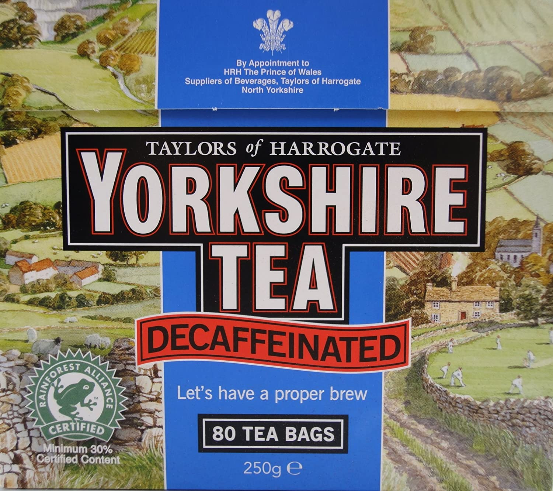Amazon.com : Yorkshire Decaffeinated Tea, 80 Teabags : Black Teas ...