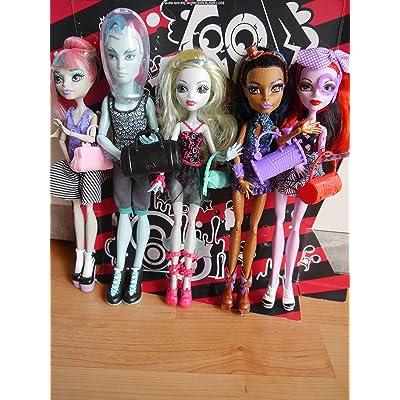 Monster High Dance Class 5 Pack - Rochelle Goyle, Gil Webber, Robecca Steam, Lagoona Blue, and Operetta: Toys & Games
