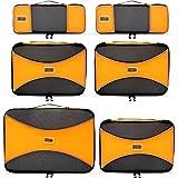 PRO Packing Cubes | Packwürfel im 6-teiligen Sparset | Taschen mit 30 % Platzeinsparung | Ultra-leichte Gepäckverstauer | Ideal für Seesäcke, Handgepäck und Rucksäcke (Sunset Orange)
