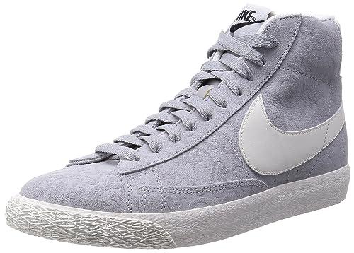 brand new 93d6d 04f3f Nike Blazer Mid PRM Vintage Uomo US 9.5 Grigio Scarpe ginnastica Amazon.it  Scarpe e borse