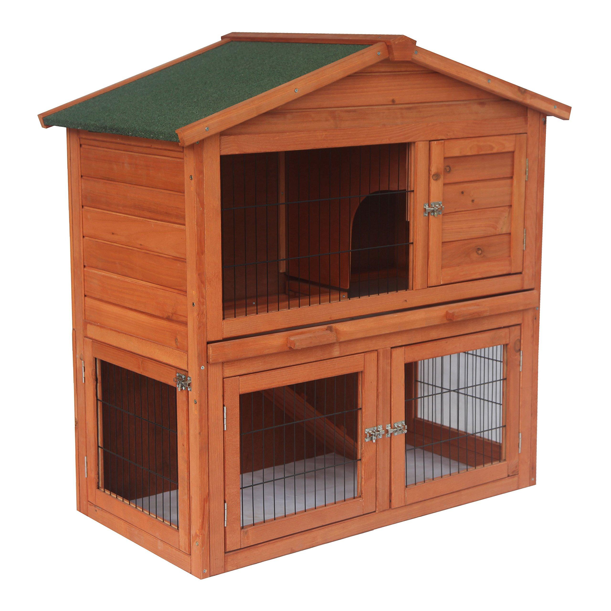 ALEKO ARH40X22X40 Wooden Pet House Chicken Coop Rabbit Hutch 40 x 22 x 40 Inches