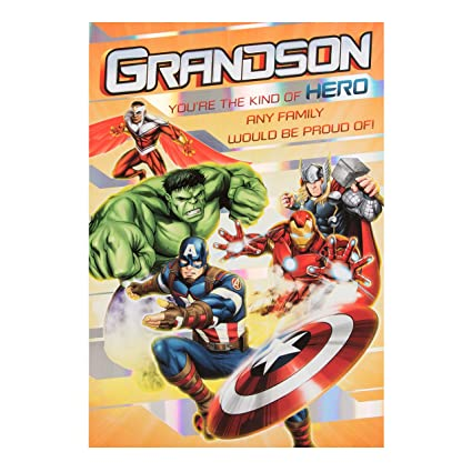 Amazon Avengers Grandson Birthday Card Office Products