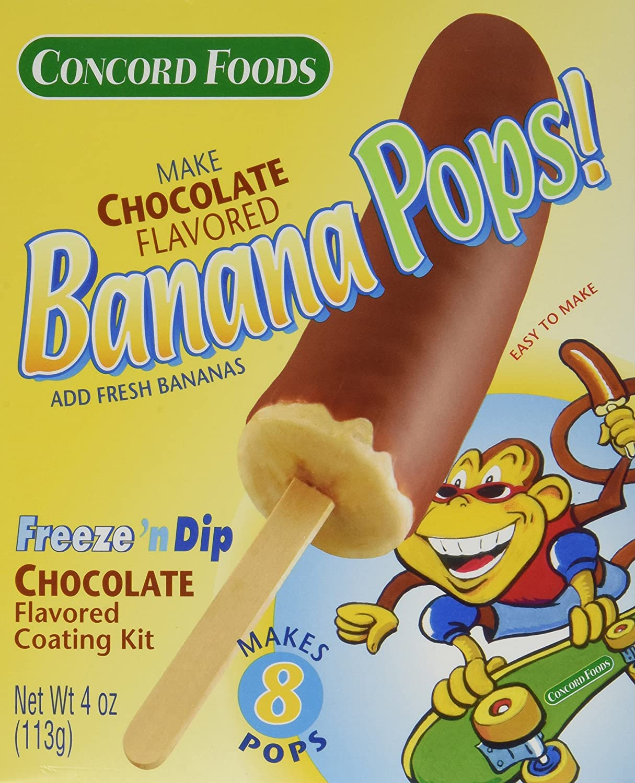Amazon.com : Concord Foods Banana Pops! Freeze 'n Dip Chocolate ...