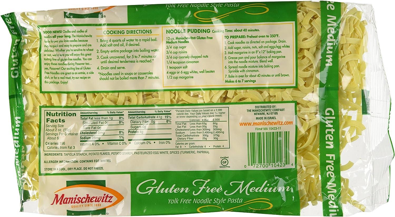 Amazon Com Manischewitz Noodle Yolk Free Medium Passover 12