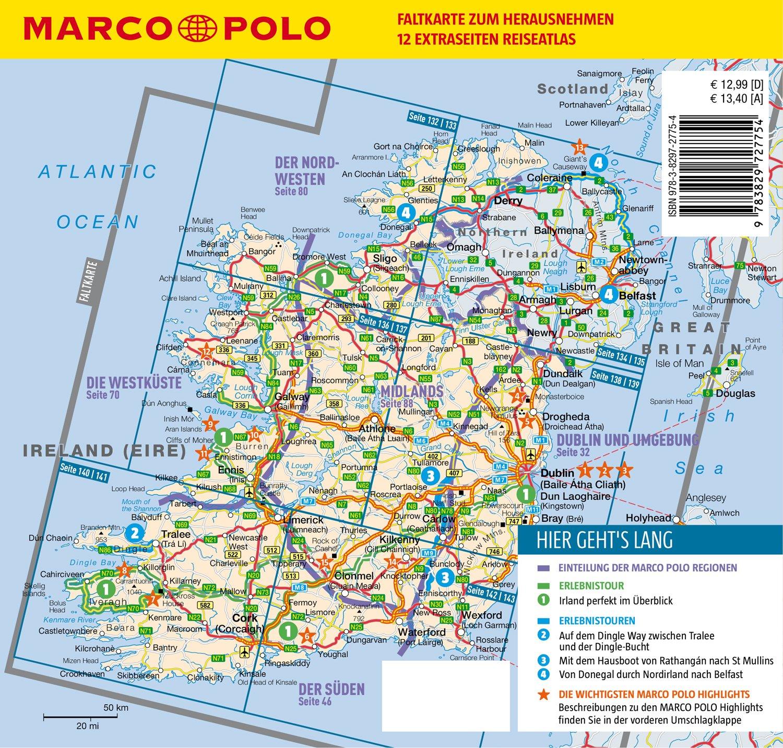 Irland Karte Pdf.Marco Polo Reisefuhrer Irland Reisen Mit Insider Tipps