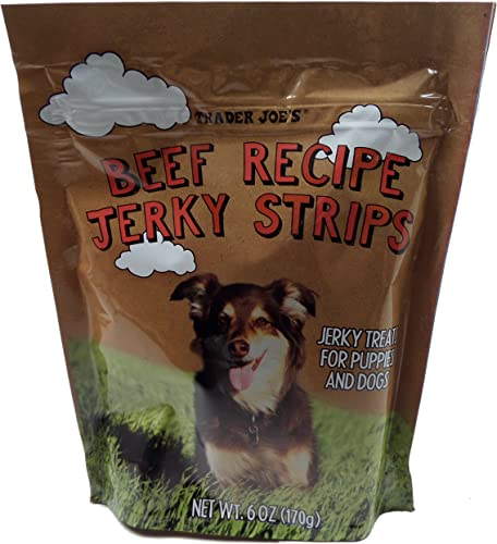 Trader Joes – Dog Treat Jerky Combo 2 Pack 12 total OZ s -Beef Jerky Chicken Jerky – Made in USA Tastey Treats – Dogs Love Them.