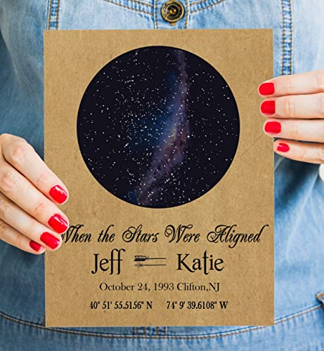 Amazon Personalised Night Sky Map Kraft Custom Constellation