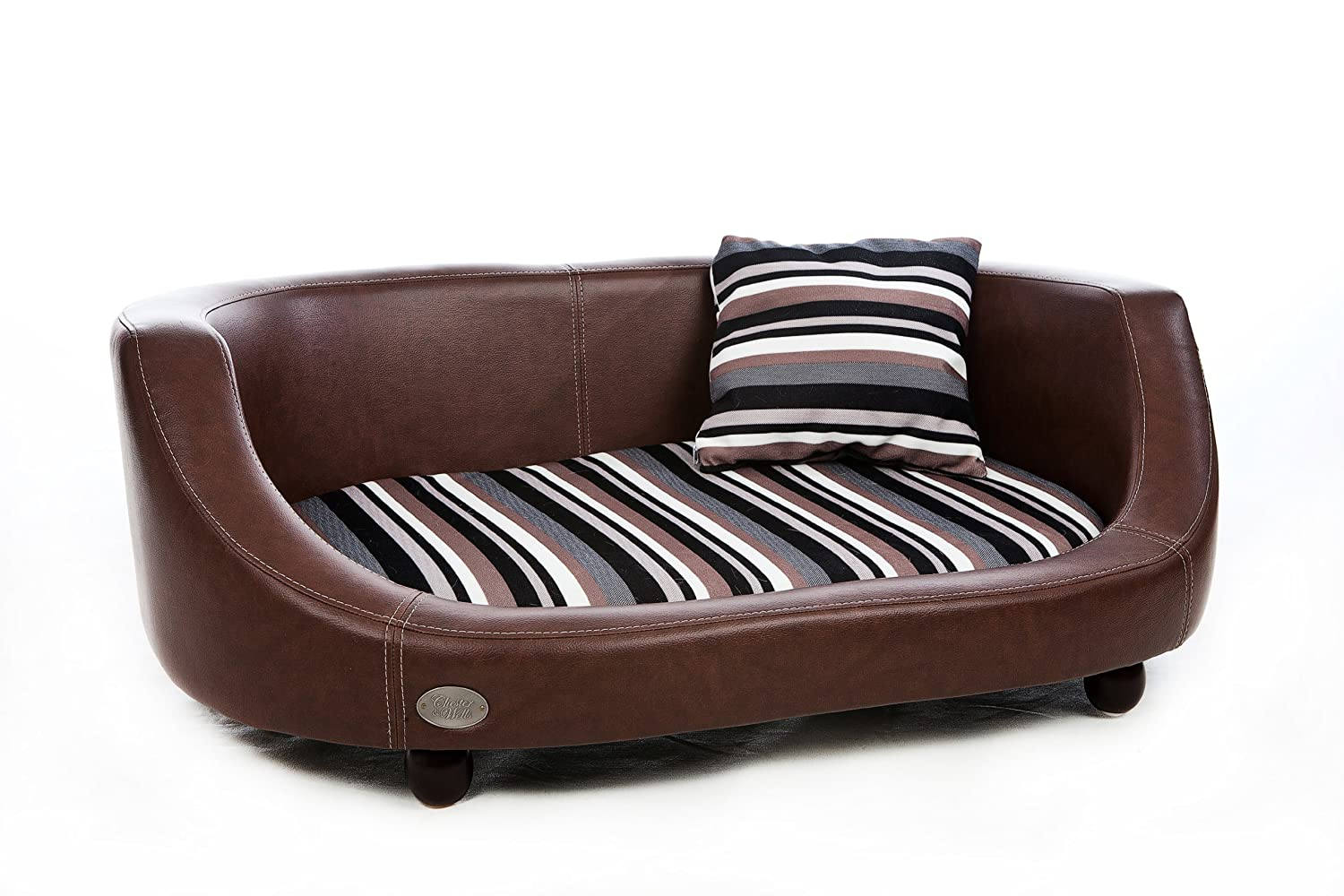 Chester and Wells Oxford II Medium Dog Bed in Chestnut Brown