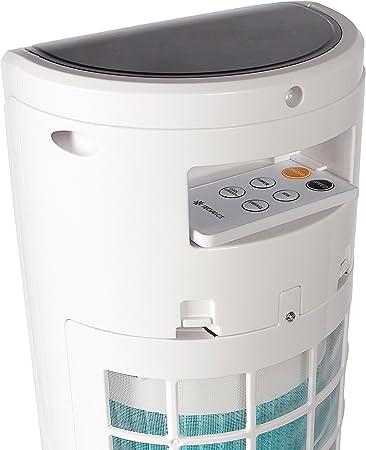 Tecvance Ventilateur Colonne, Rafraichisseur, Humidificateur & Purificateur d'air, Oscillation, 3 Niveaux de Vitesse & 3 Modes de Ventilation,