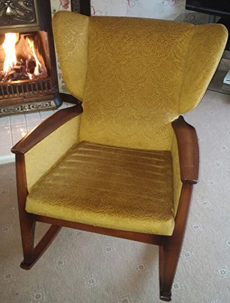 Superb Beautiful Parker Knoll Golden Rocker Chair Black Gold Machost Co Dining Chair Design Ideas Machostcouk