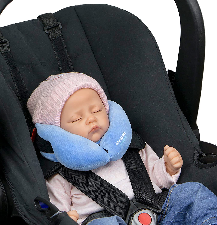 hellblau SANDINI SleepFix Baby Schlafkissen//Nackenkissen mit St/ützfunktion f/ür Auto// Fahrrad