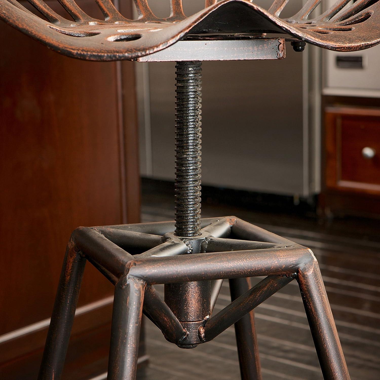 Amazon Charlie Industrial Metal Design Tractor Seat Bar Stool
