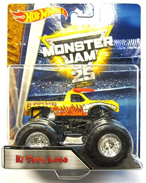 "Hot Wheels Monster Jam -DRR85 El Toro Loco (amarillo) ""25 years"