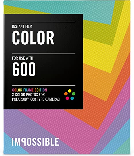 Impossible 4514/Colour Instant Film for Polaroid 600/Series Cameras and Impossible I-1 Black