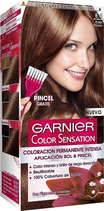 Garnier Color Sensation Coloración Nº6 Rubio Oscuro, 200 gr ...