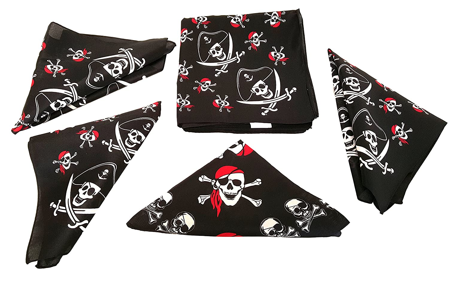 Pirate Bandana's For Children Or Adults, By Playscene (12 Pirate Bandana) by Playscene™