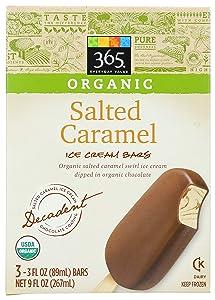 365 by Whole Foods Market, Frozen Organic Ice Cream Bars, Salted Caramel (3 - 3 Fl Oz Bars), 9 Fl Oz