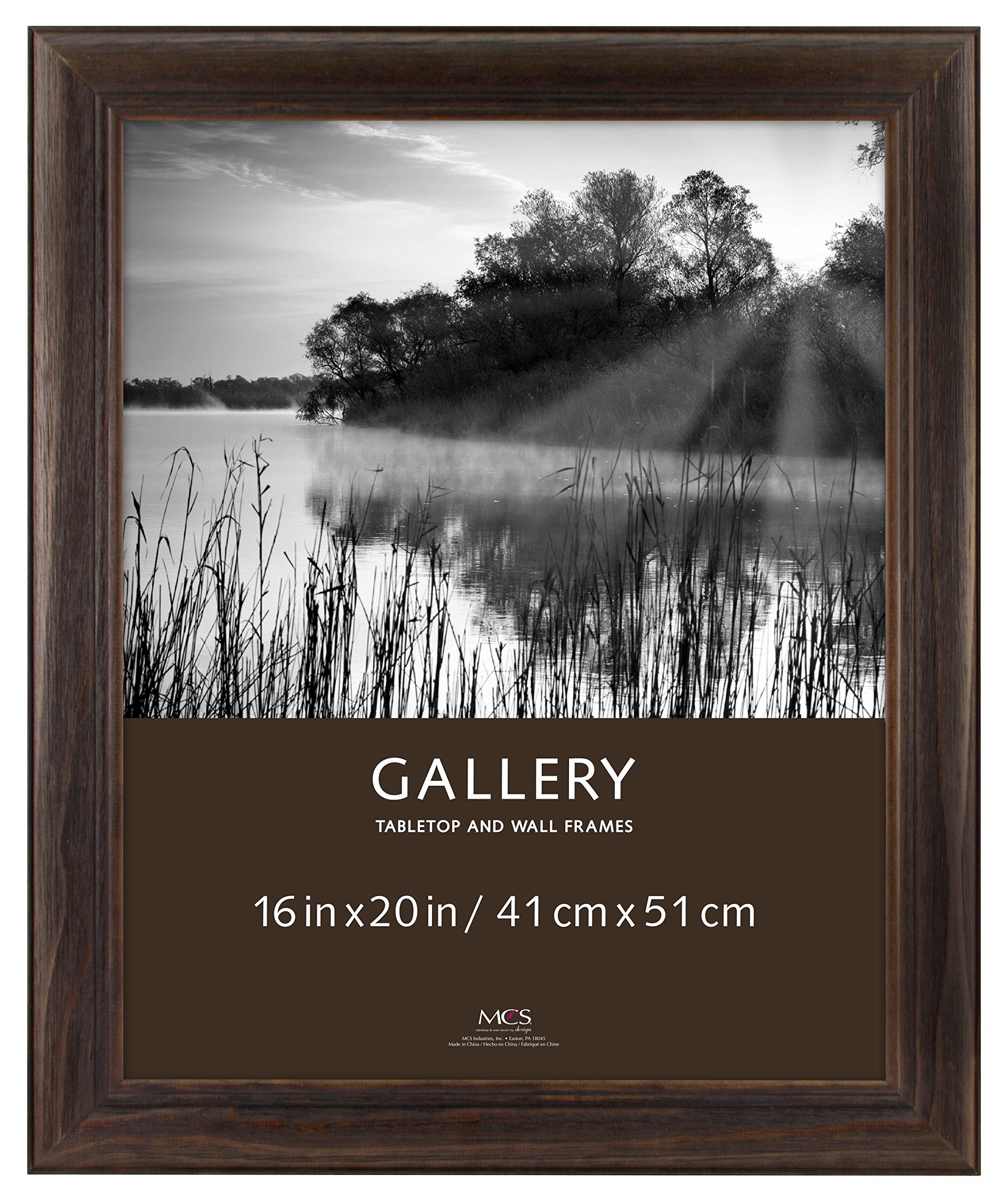 MCS 16x20 Inch Wide Wood Frame, Burnt Oak (47612) by MCS