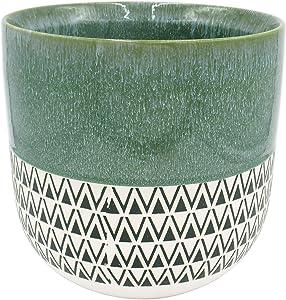 Amazon Brand – Stone & Beam Mid-Century Two-Toned Planter, 10.53