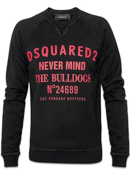 check out d5508 3d30d DSQUARED2 Felpa Nera Nevermind Crew XXX-Large: DSQUARED2 ...