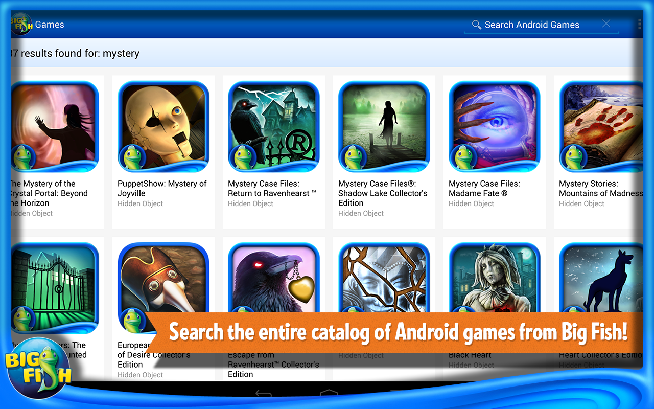 Amazon Com Big Fish Games App Appstore For Android