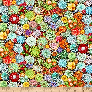 Kaufman The Potted Garden Plants Garden Quilt Fabric by the Yard (0685131)