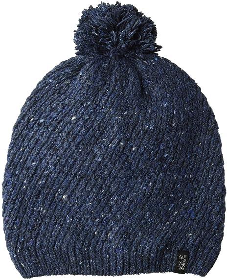bc11aa7564f Amazon.com  Jack Wolfskin Women s Merino Knitted Pom-Pom Beanie Hat ...