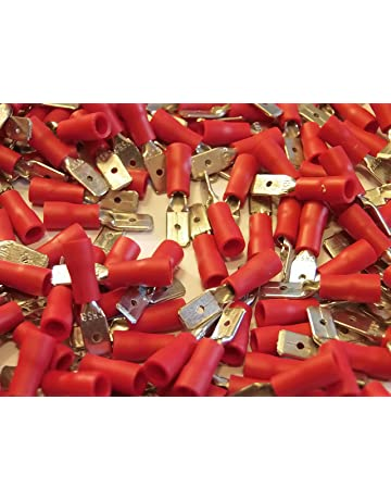 25 50 100 pack 100 for 8mm bolt // screw red 8.4mm ring terminal crimp connector
