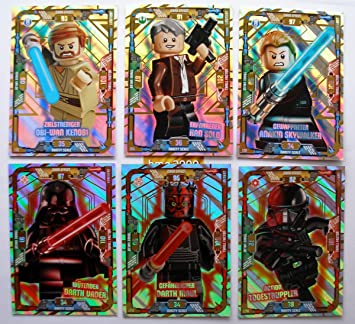 6 Cartas Lego Star Wars Trading Card Serie 1 - LE 2 OBI WAN ...