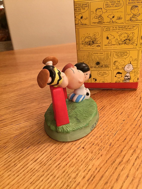 Hallmark Peanuts Gallery Fall Ball Charlie Brown Lucy Football Figurine QPC4010