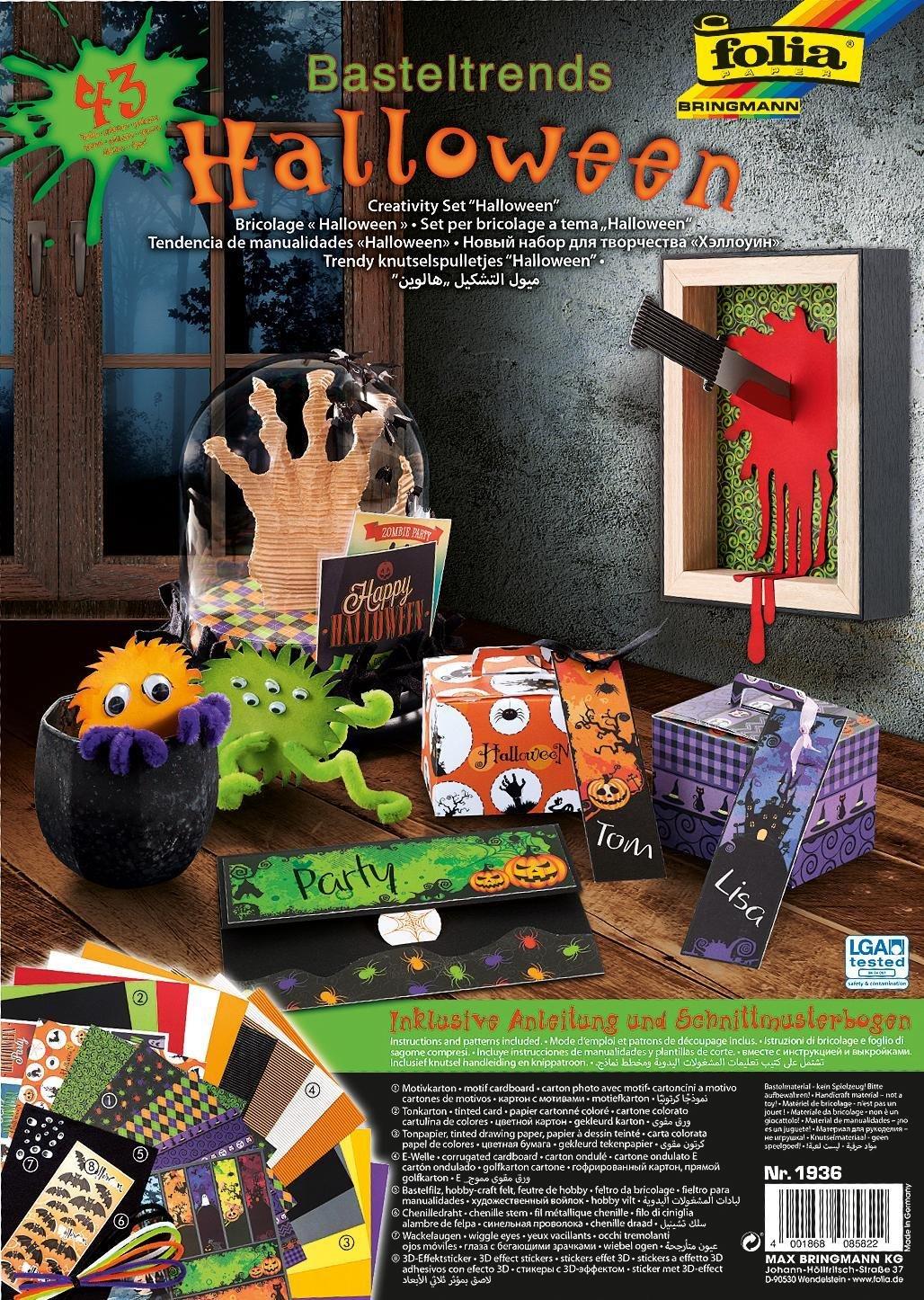 Folia Halloween Basteltrends 43 Teile inkl. Anleitung Fasching ...
