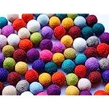 8 Natur Lote de 100 bolas de fieltro