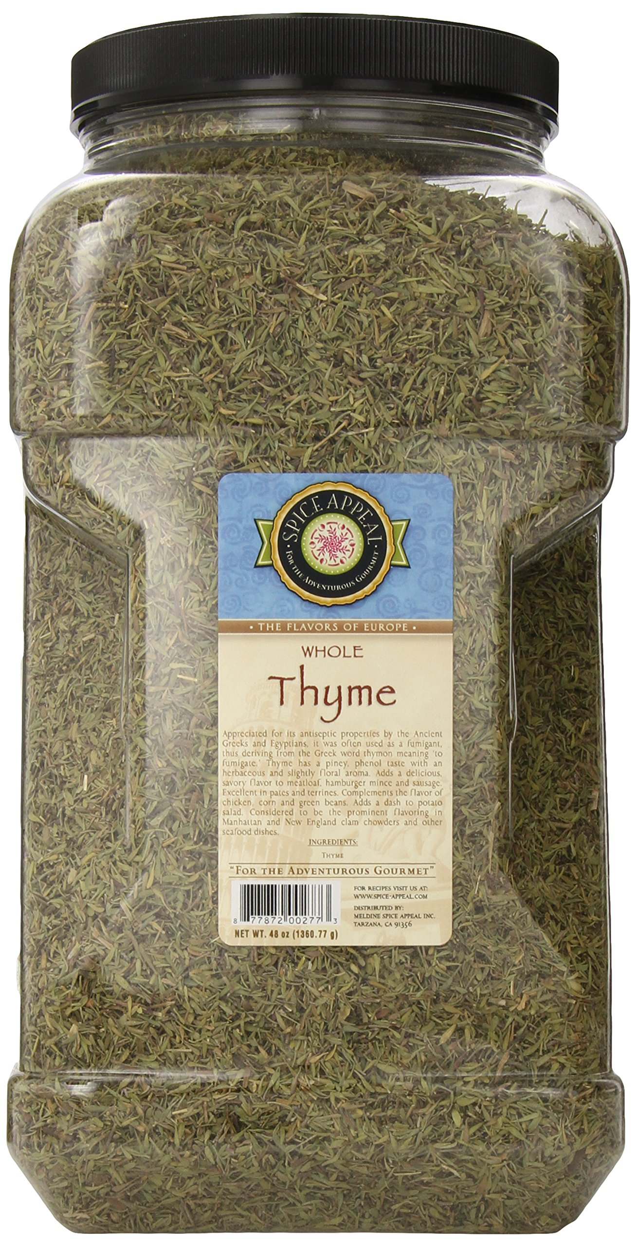 Spice Appeal Thyme Whole, 3 lbs