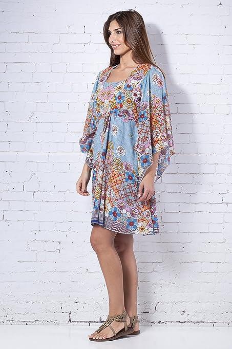 PEACE&LOVE BY CALAO Vestidos ROMANTICOS Estampados (PR4398V), Mujer, M: Amazon.es: Ropa y accesorios