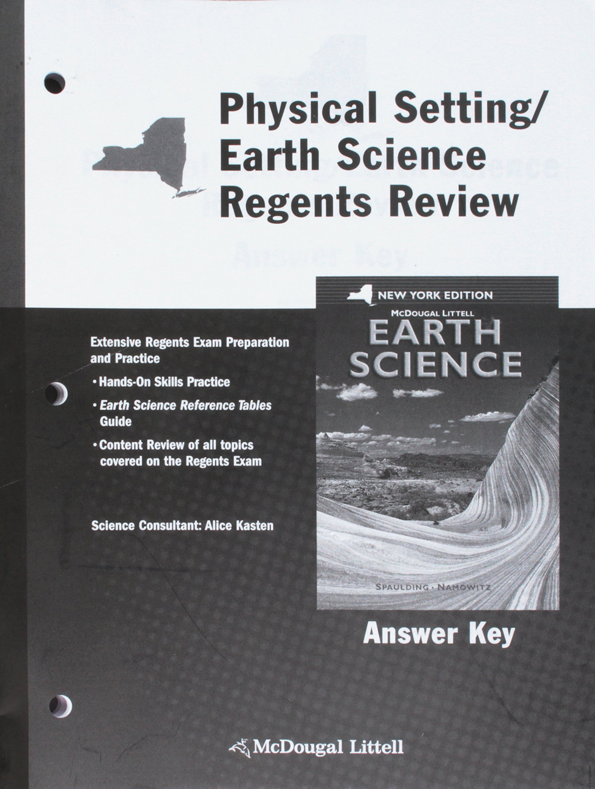 McDougal Littell Earth Science New York: Regents Review Answer Key