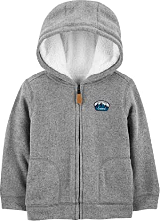 Simple Joys by Carter's Hooded Fleece Jacket with Sherpa Lining Niños