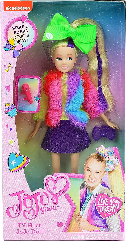 Multi-Color 10 inches TV Host JoJo Siwa Fashion Doll 10-Inch Doll