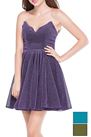 286e915775 LOVIERA Women s Homecoming Dresses Short Sweetheart V Neck Prom Dress  Evening Gowns(Size0