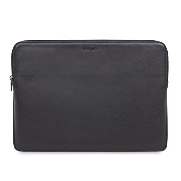 66f8653ef591 Knomo Barbican Leather Sleeve for 13-Inch Laptop - Black: Amazon.co ...